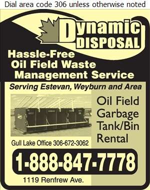 Dynamic Disposal Ltd - Oil & Gas Well Service Digital Ad