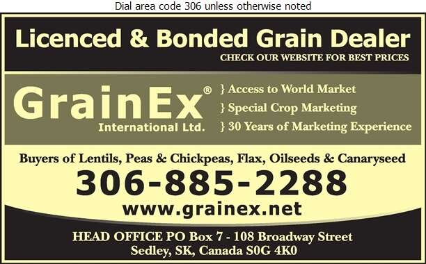 Grainex International Ltd - Seed Cleaning Digital Ad