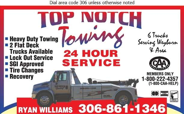 Top Notch Towing - Towing & Boosting Service Digital Ad