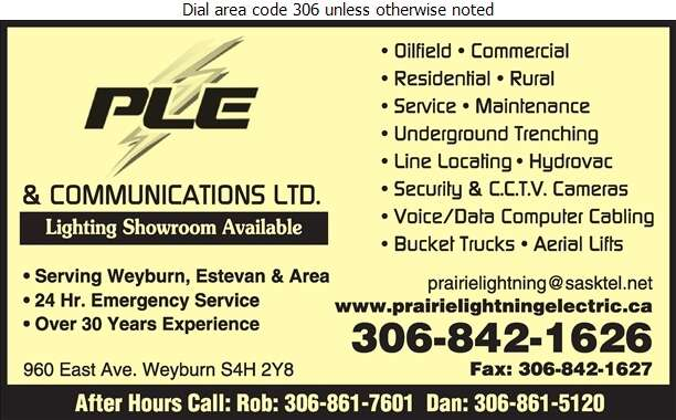 Prairie Lightning Electric (After Hours Rob) - Electric Contractors Digital Ad