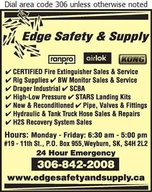 Edge Safety & Supply 2010 Ltd - Oil & Gas Well Service Digital Ad