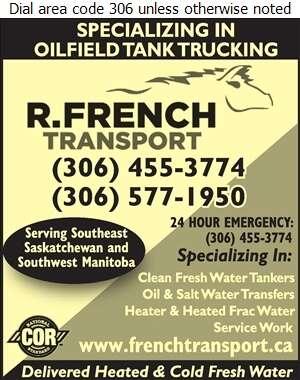 R French Transport - Trucking Digital Ad