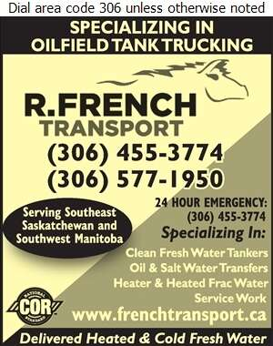 R French Transport - Trucking Digital Ad