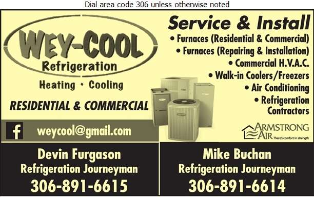 Wey-Cool Refrigeration - Refrigeration Contractors Digital Ad