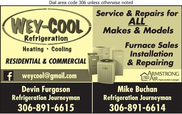 Wey-Cool Refrigeration - Heating Contractors Digital Ad