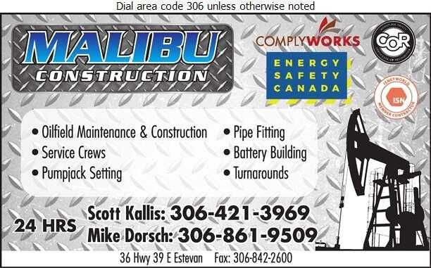 Malibu Construction Ltd - Oil & Gas Well Service Digital Ad
