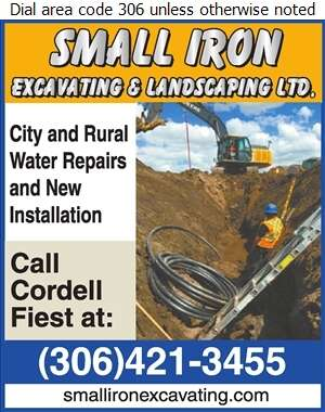 Small Iron Excavating & Landscaping Ltd - Sewer Contractors Digital Ad