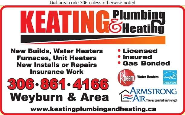 Keating Plumbing & Heating - Plumbing Contractors Digital Ad