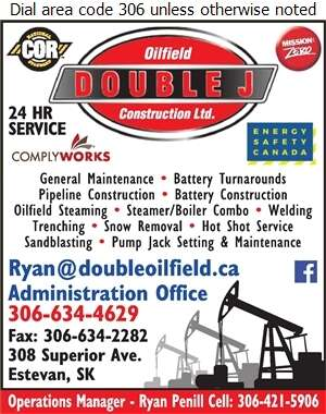 Double J Oilfield Construction (Manager-Ryan Penill) - Oil & Gas Well Service Digital Ad