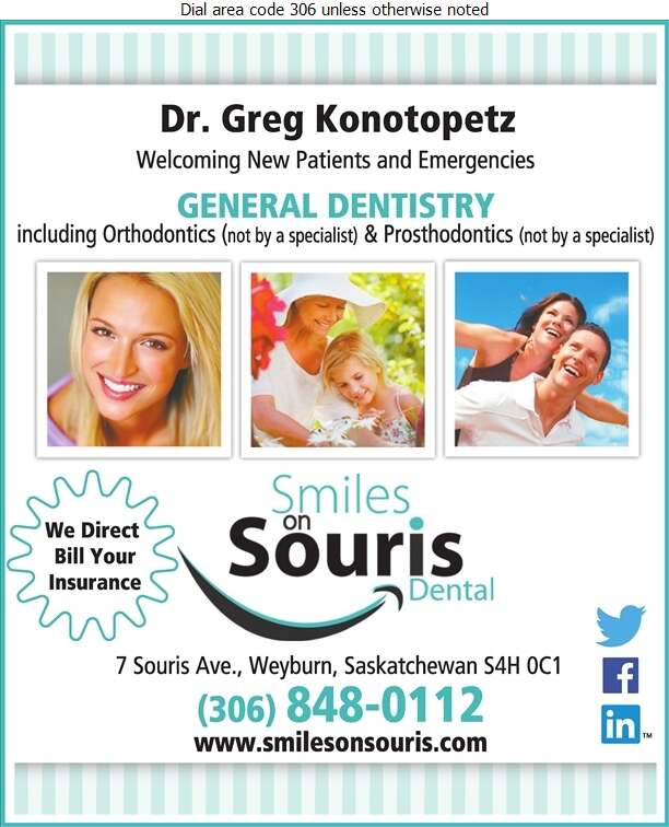 Smiles On Souris - Dentists Digital Ad