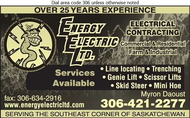 Energy Electric Ltd - Electric Contractors Digital Ad