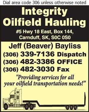 Integrity Oilfield Hauling Ltd - Oil & Gas Well Transportation Digital Ad