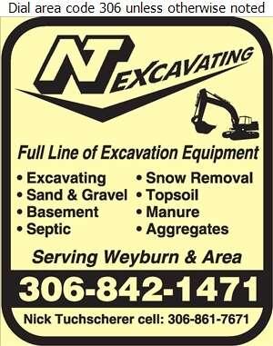 N T Excavating Ltd (Nick Tuchscherer) - Excavating Contractors Digital Ad