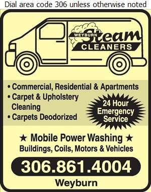 Weyburn Steam Cleaners - Carpet & Rug Cleaners Digital Ad