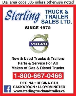 Sterling Truck & Trailer Sales Ltd - Truck Dealers Digital Ad