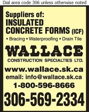 Wallace Construction Specialties Ltd (Regina) - Concrete Forms & Accessories Digital Ad