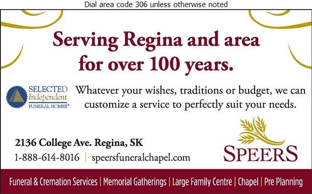 Speers Funeral & Cremation Services - Funeral Homes & Planning Digital Ad