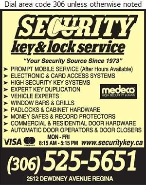 Security Key & Lock Service - Locksmiths Digital Ad