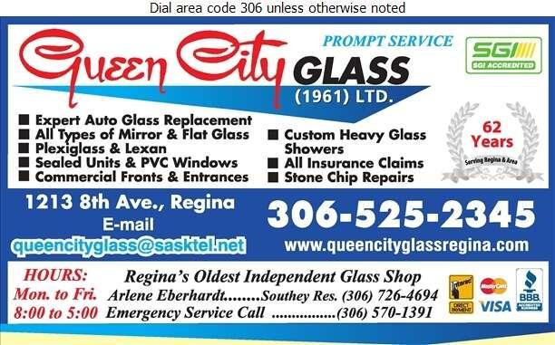 Queen City Glass (1961) Ltd - Glass Auto, Float, Plate, Window Etc Digital Ad