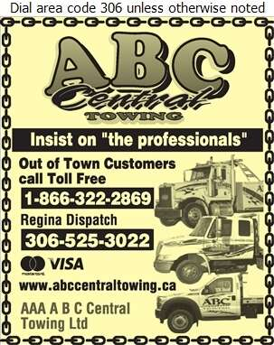 AAA A B C Central Towing Ltd - Towing & Boosting Service Digital Ad