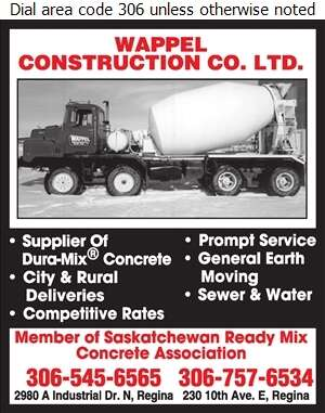Wappel Construction Co Ltd (Shop) - Concrete Ready Mixed Digital Ad