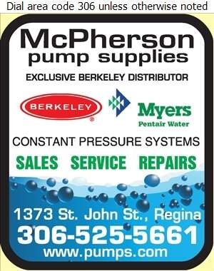 McPherson Pump Supplies - Pumps Digital Ad