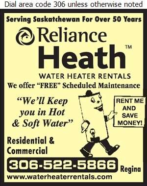 Reliance Heath Water Heater Rentals - Water Heaters Rental Digital Ad