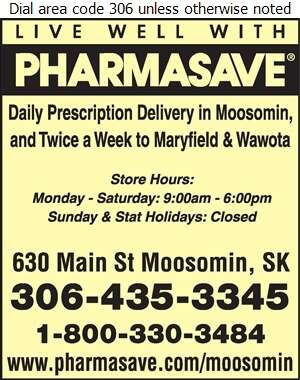 Pharmasave Moosomin - Pharmacies Digital Ad