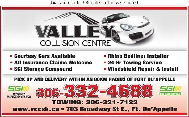 Valley Collision Centre (After Hours Towing) - Auto Body Repairing Digital Ad