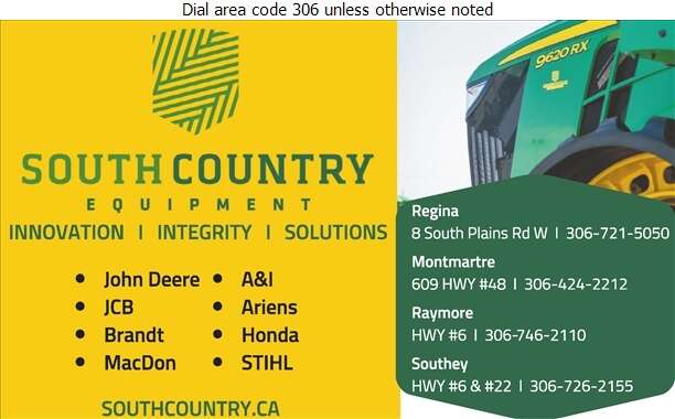 South Country Equipment Ltd (Montmartre) - Agricultural Implements Sales, Service & Parts Digital Ad