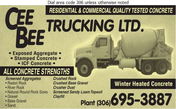 Cee Bee Trucking - Concrete Ready Mixed Digital Ad