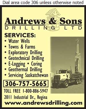 Andrews & Sons Drilling Ltd - Water Well Drilling & Service Digital Ad