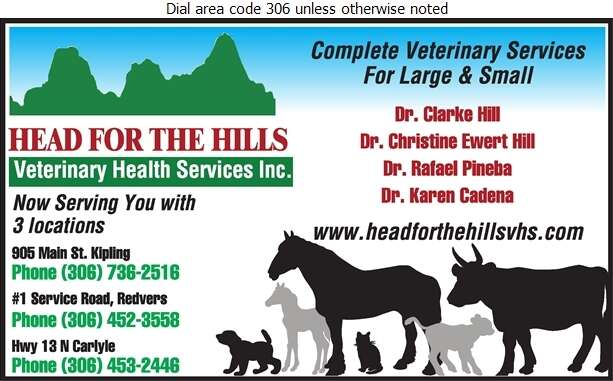 Head For The Hills Veterinary Services - Veterinarians Digital Ad