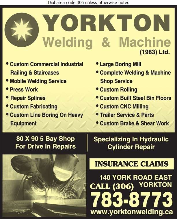 Yorkton Welding & Machine (1983) Ltd - Machine Shops Digital Ad