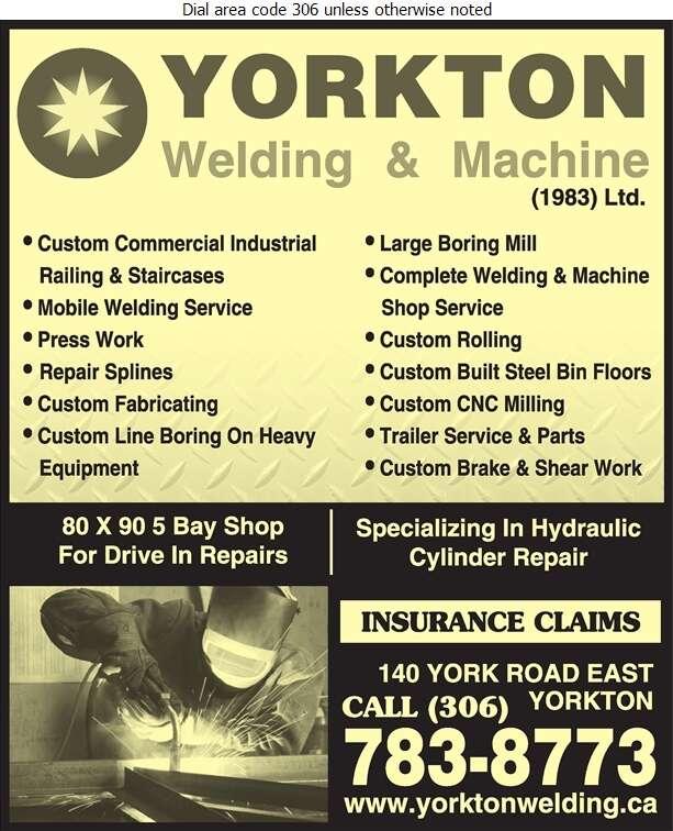 Yorkton Welding & Machine (1983) Ltd - Machine Shops Digital Ad