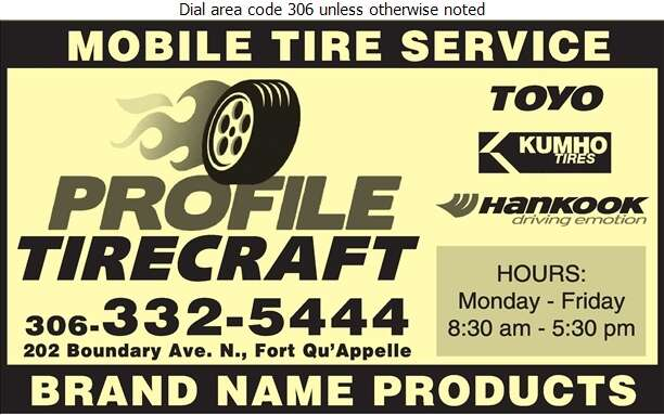 Profile Tirecraft - Tire Dealers Retail Digital Ad