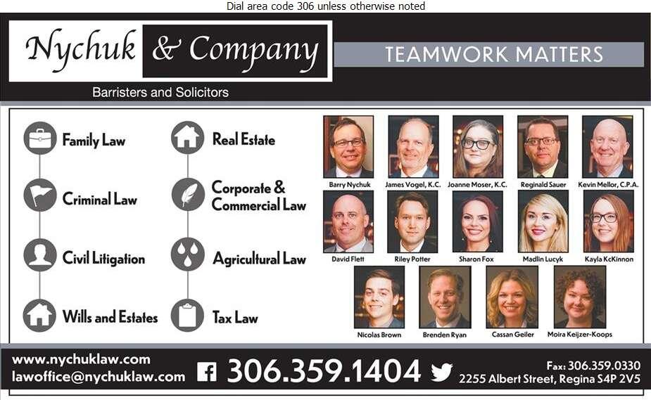 Nychuk & Company - Lawyers Digital Ad