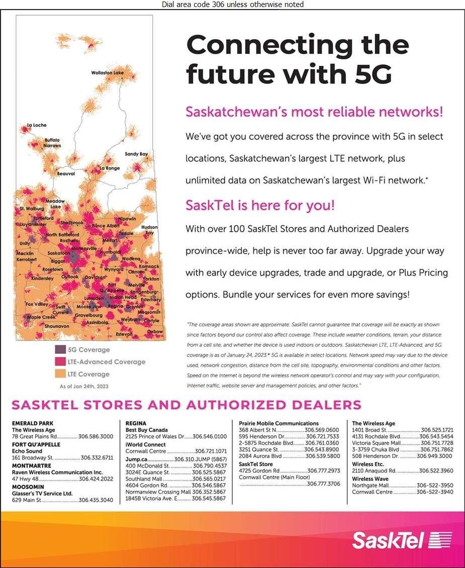 SaskTel Wireless - Cellular Telephones Digital Ad