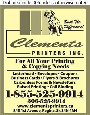 Clements Printers - Printers Digital Ad