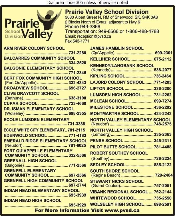 Prairie Valley School Division No 208 (Bus Shop) - Schools & Colleges Digital Ad