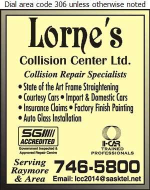 Lorne's Collision Center - Auto Body Repairing Digital Ad