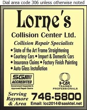 Lorne's Collision Center - Auto Body Repairing Digital Ad