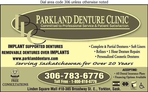 Parkland Denture Clinic - Denturists Digital Ad
