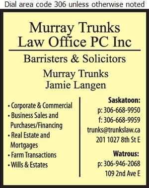 Trunks Murray Law Office PC Inc - Lawyers Digital Ad