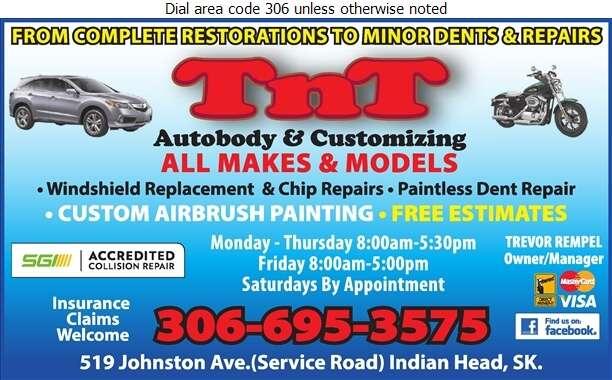 TnT Autobody & Customizing Inc - Auto Body Repairing Digital Ad