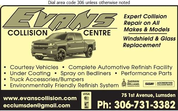 Evan's Collision Centre Inc - Auto Body Repairing Digital Ad