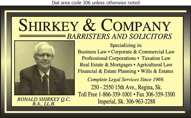 Shirkey & Company - Lawyers Digital Ad