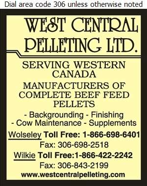 West Central Pelleting Ltd - Feeds, Livestock & Poultry Digital Ad