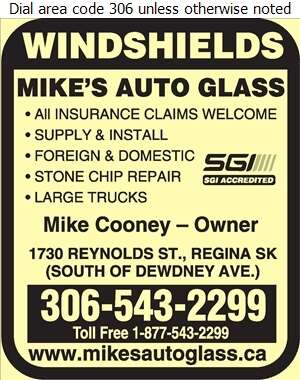 Mike's Auto Glass - Glass Auto, Float, Plate, Window Etc Digital Ad