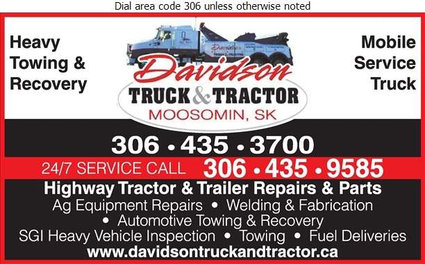 Davidson Truck & Tractor - Towing & Boosting Service Digital Ad